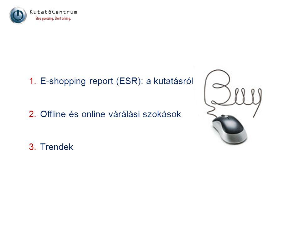 E-shopping report (ESR): a kutatásról