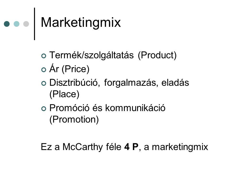 Marketingmix Termék/szolgáltatás (Product) Ár (Price)