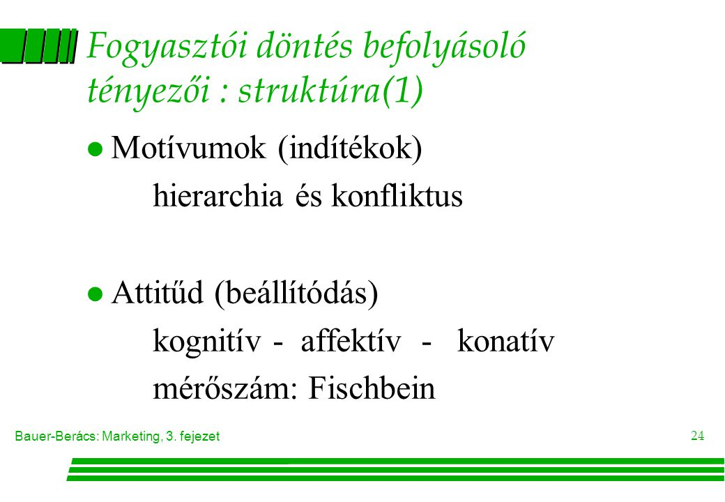 Fogyasztói döntés befolyásoló tényezői : struktúra(1)