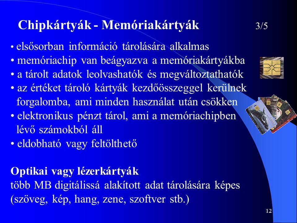 Chipkártyák - Memóriakártyák 3/5