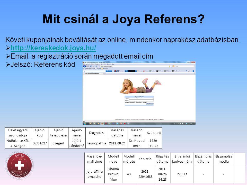 Mit csinál a Joya Referens