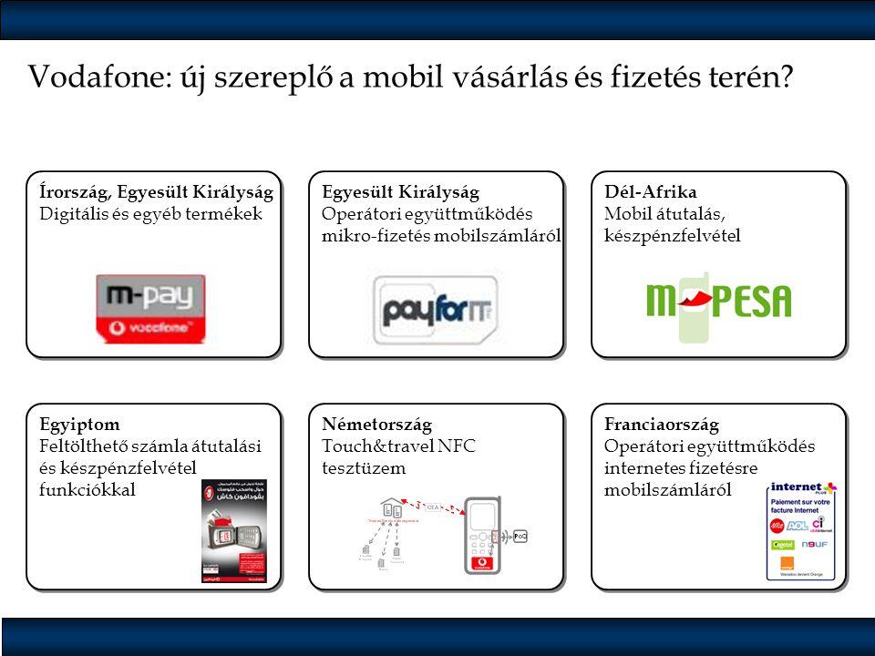Vodafone: új szereplő a mobil vásárlás és fizetés terén