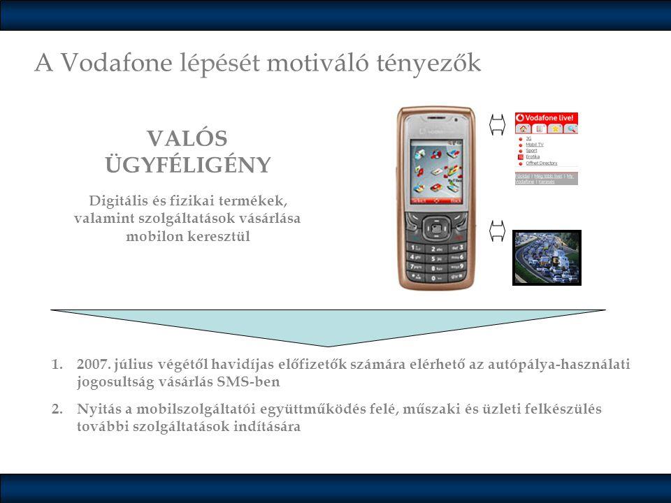 A Vodafone lépését motiváló tényezők