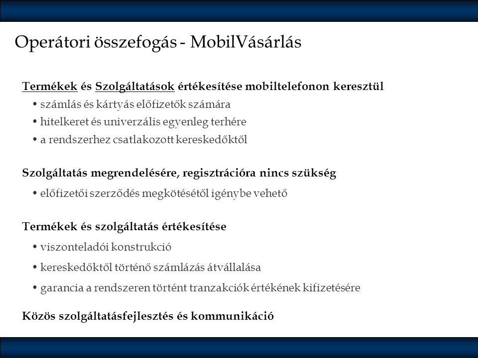 Operátori összefogás - MobilVásárlás