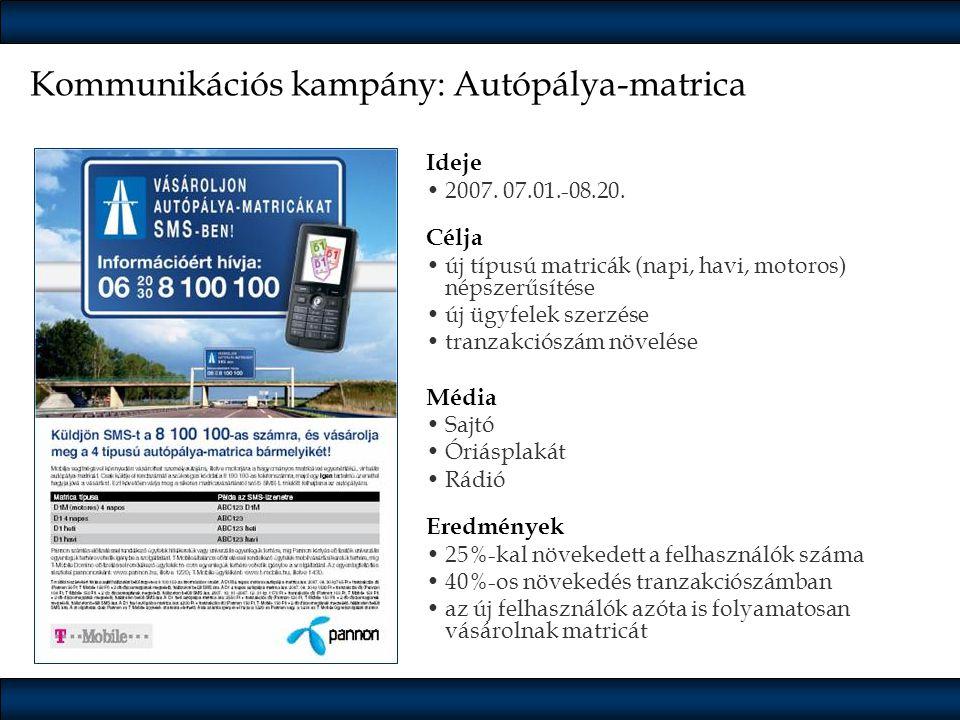 Kommunikációs kampány: Autópálya-matrica