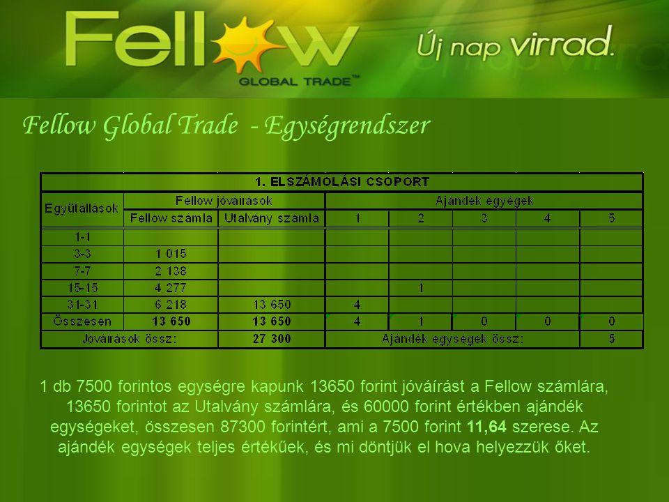 Fellow Global Trade - Egységrendszer