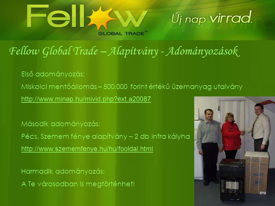 Fellow Global Trade – Alapítvány - Adományozások