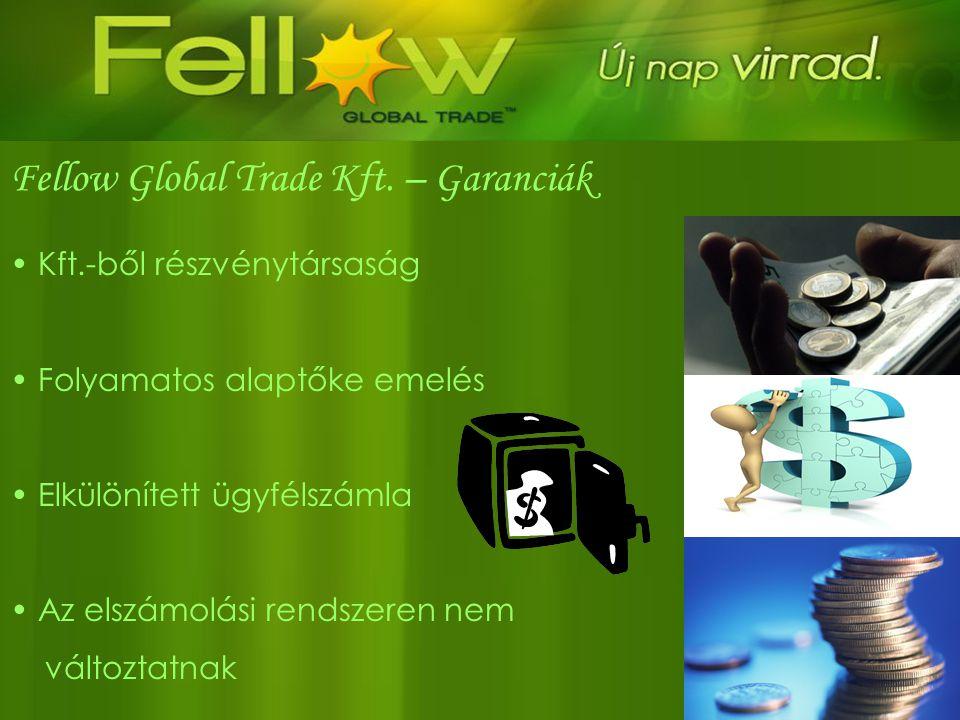 Fellow Global Trade Kft. – Garanciák