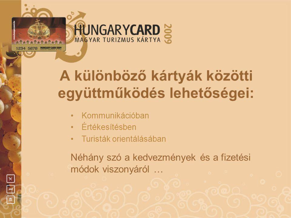 A különböző kártyák közötti együttműködés lehetőségei: