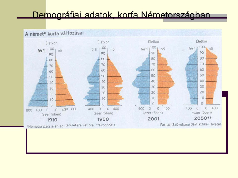 Demográfiai adatok, korfa Németországban