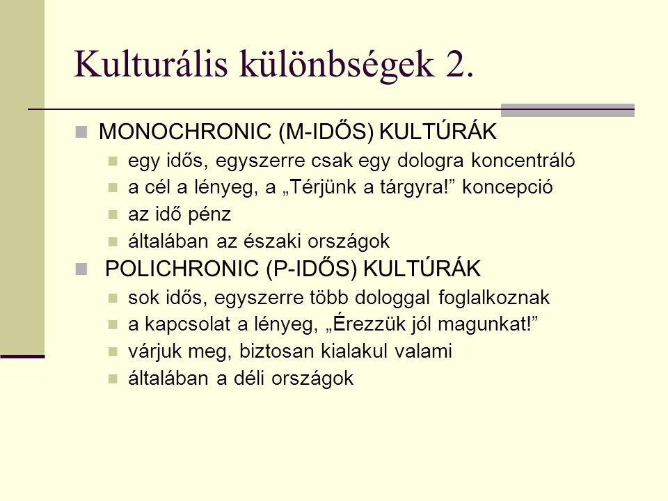 Kulturális különbségek 2.
