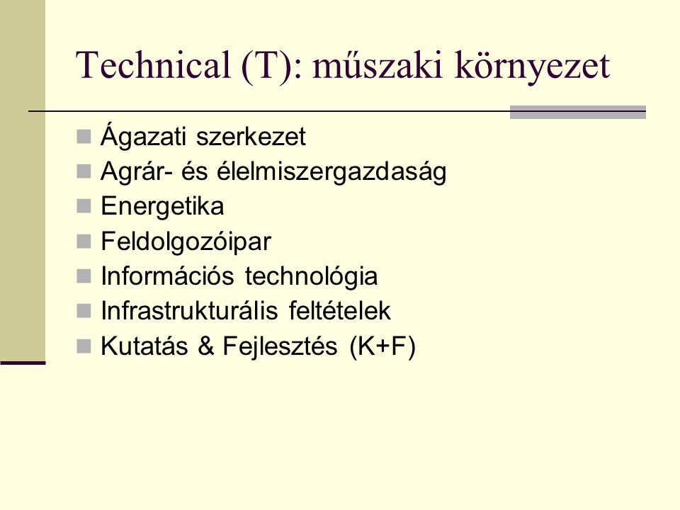 Technical (T): műszaki környezet