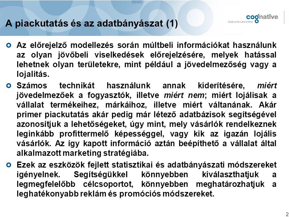 A piackutatás és az adatbányászat (1)