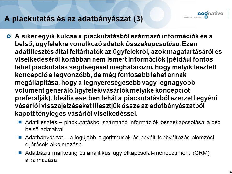 A piackutatás és az adatbányászat (3)