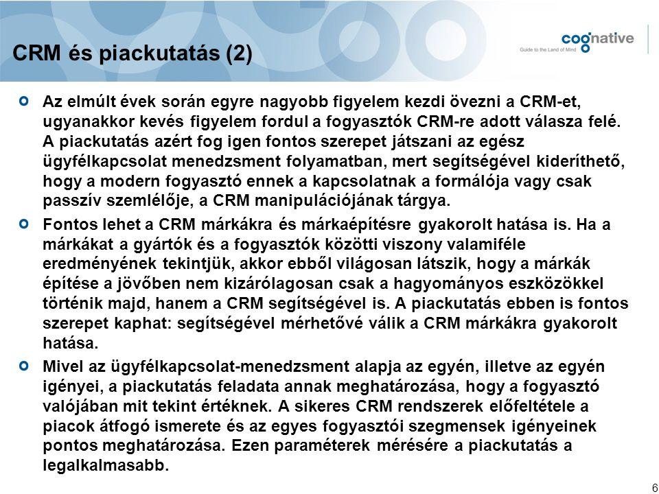 CRM és piackutatás (2)