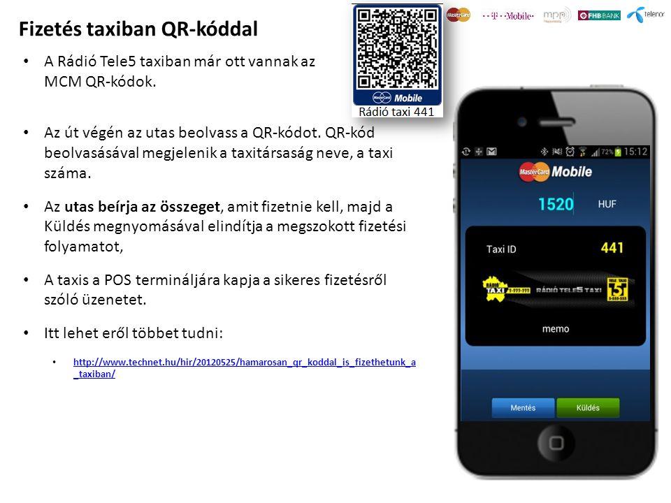 Fizetés taxiban QR-kóddal