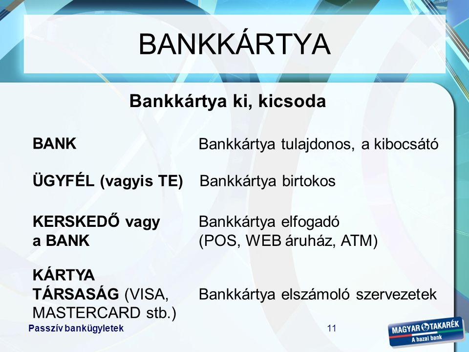 BANKKÁRTYA Bankkártya ki, kicsoda BANK