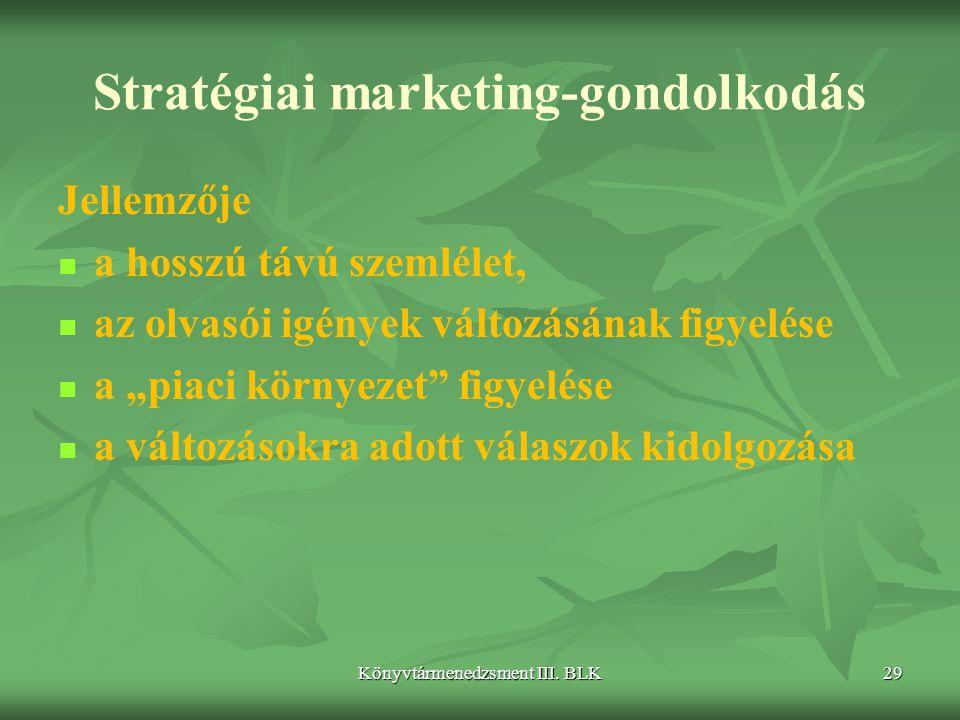 Stratégiai marketing-gondolkodás