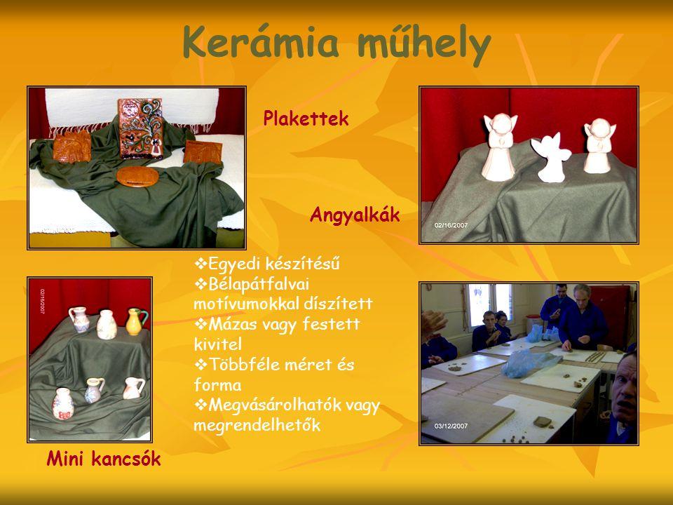 Kerámia műhely Plakettek Angyalkák Mini kancsók Egyedi készítésű