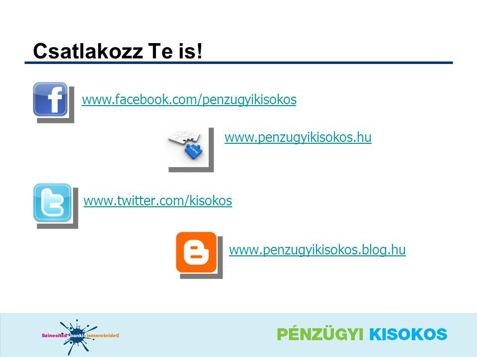 Csatlakozz Te is! www.facebook.com/penzugyikisokos