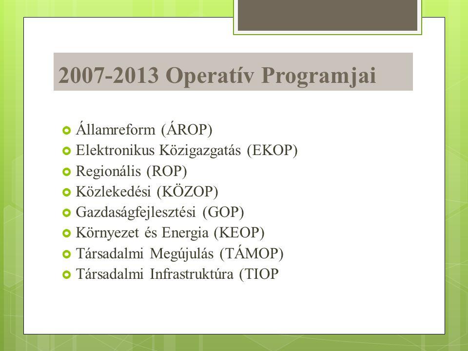 2007-2013 Operatív Programjai Államreform (ÁROP)