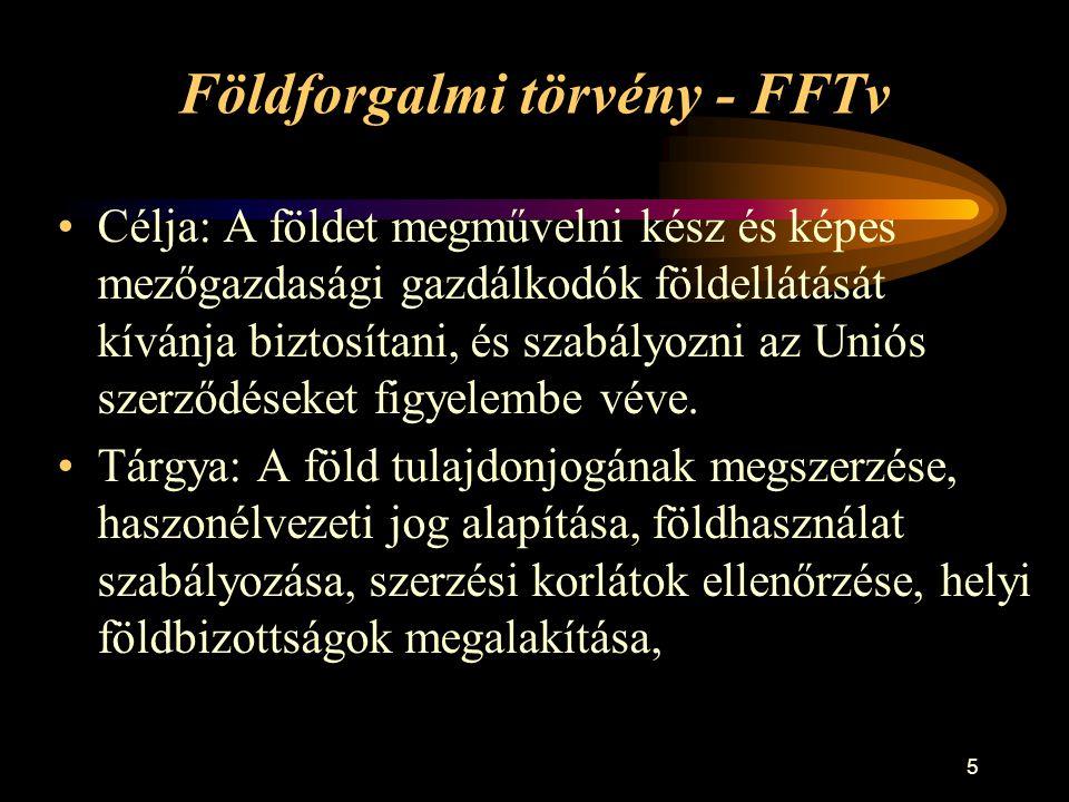 Földforgalmi törvény - FFTv