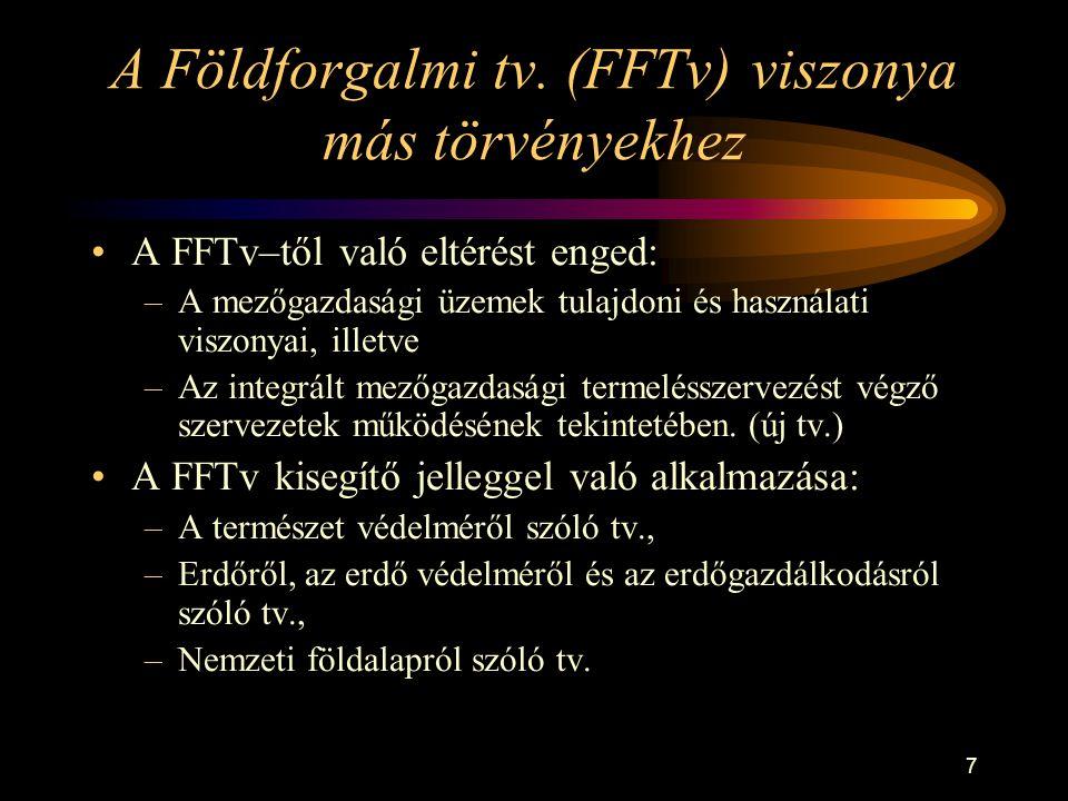 A Földforgalmi tv. (FFTv) viszonya más törvényekhez