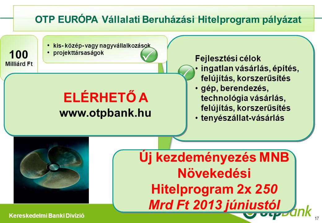 ELÉRHETŐ A www.otpbank.hu