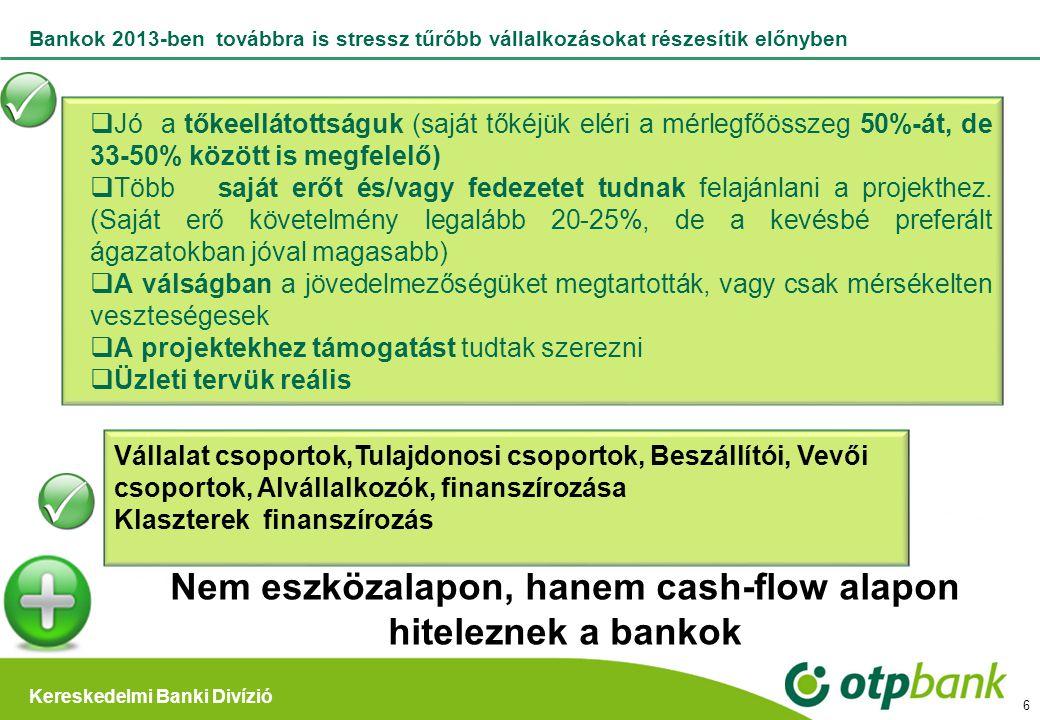 Nem eszközalapon, hanem cash-flow alapon hiteleznek a bankok