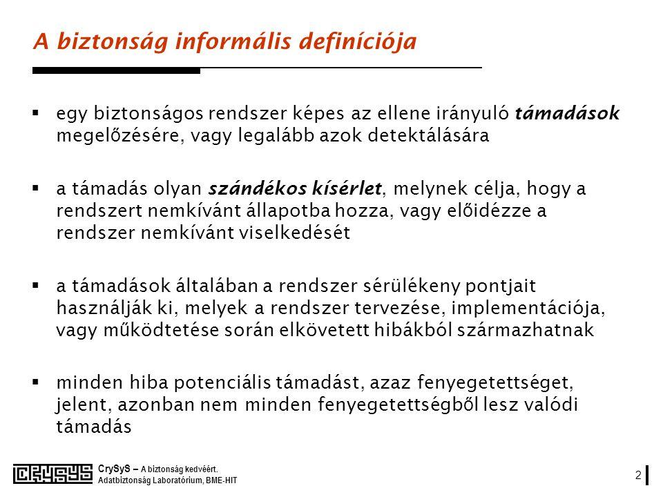 A biztonság informális definíciója