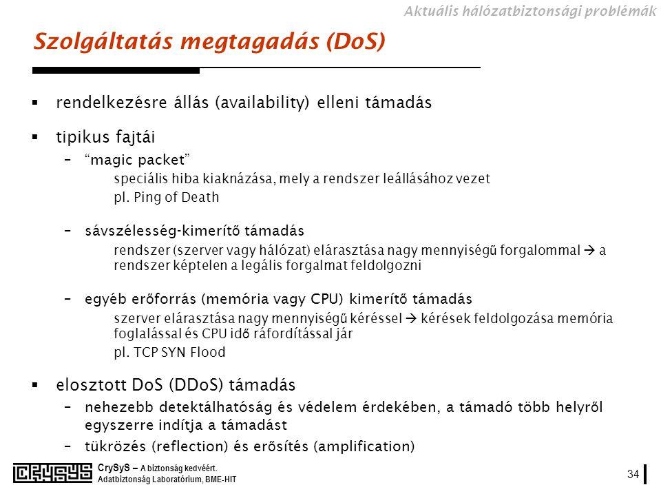 Szolgáltatás megtagadás (DoS)