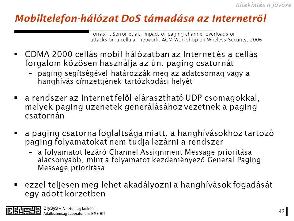Mobiltelefon-hálózat DoS támadása az Internetről