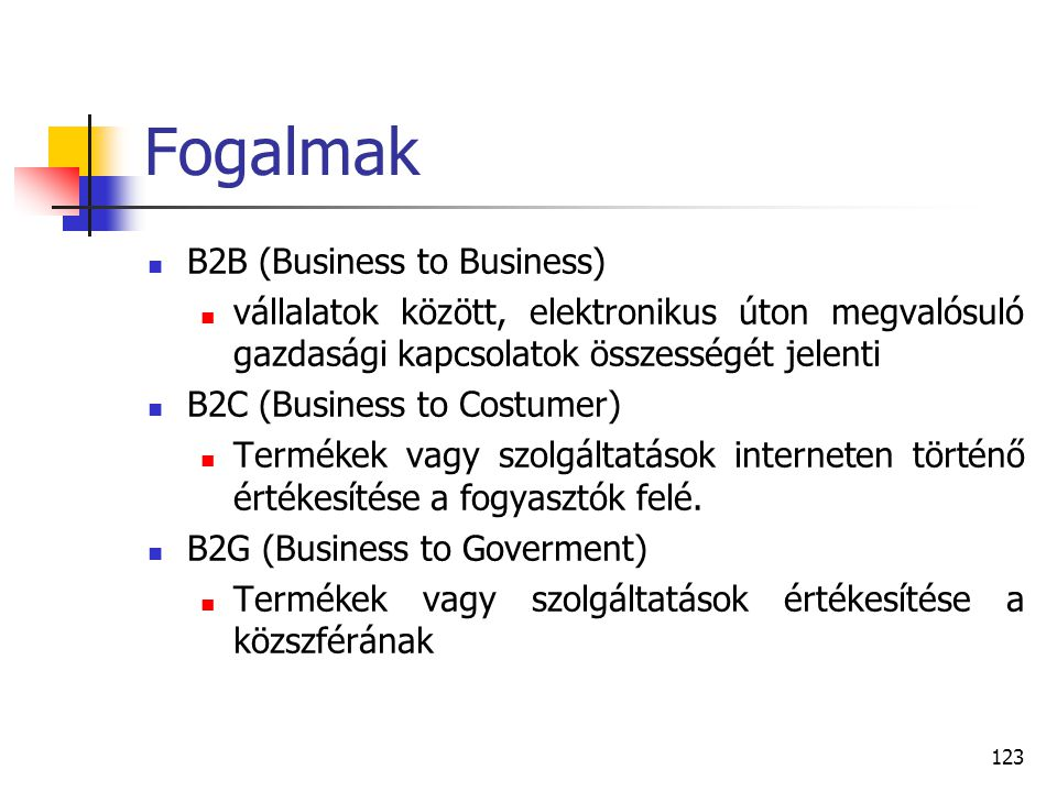 Fogalmak B2B (Business to Business)