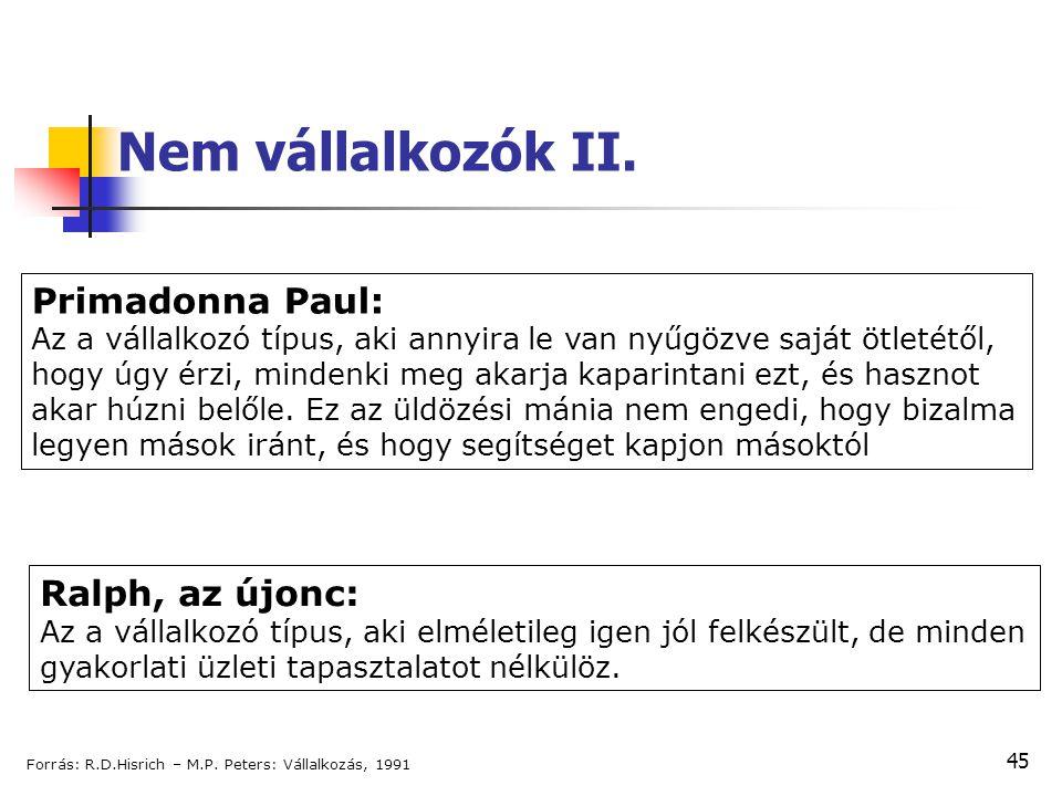 Nem vállalkozók II. Primadonna Paul: Ralph, az újonc: