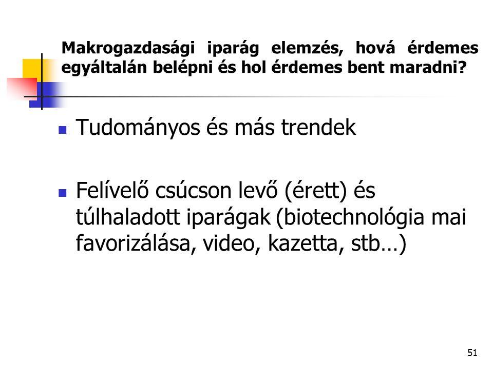 Tudományos és más trendek