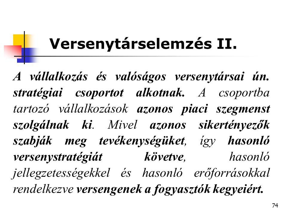 Versenytárselemzés II.