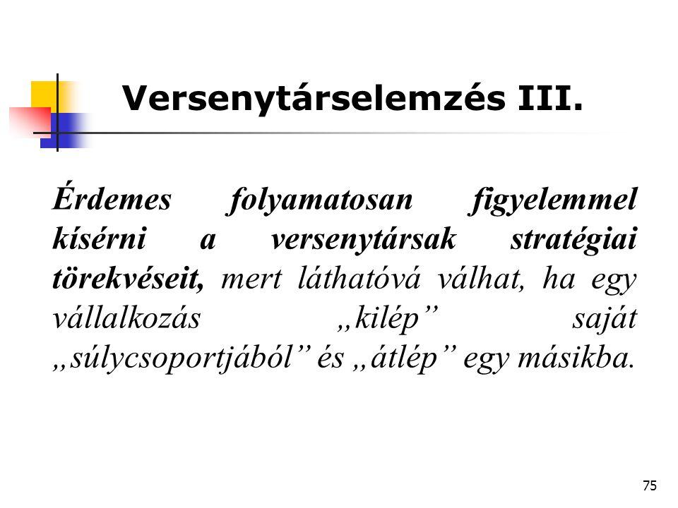 Versenytárselemzés III.