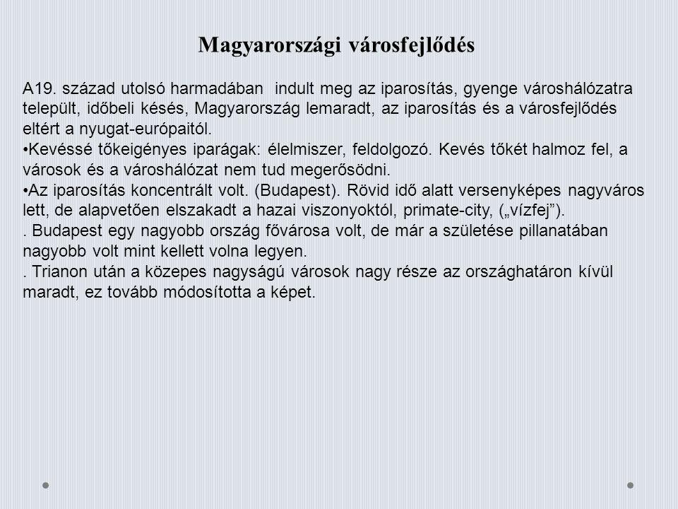 Magyarországi városfejlődés