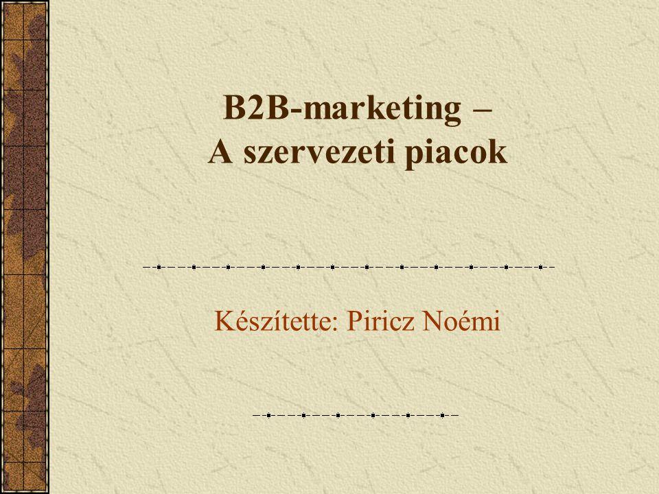 B2B-marketing – A szervezeti piacok