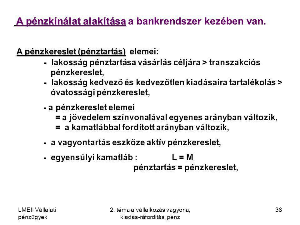 2. téma a vállalkozás vagyona, kiadás-ráfordítás, pénz