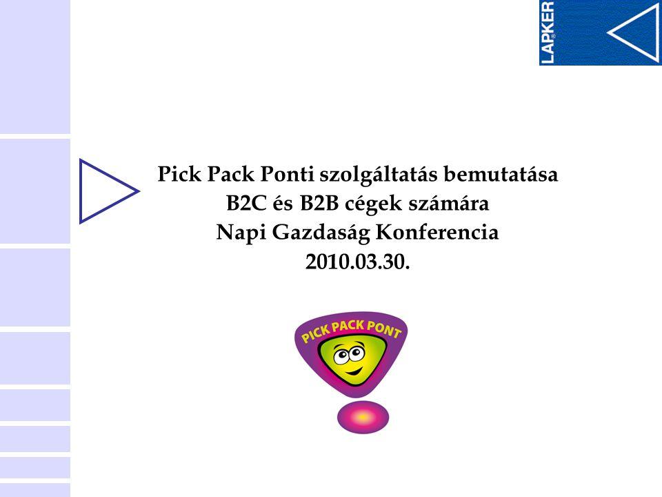 Pick Pack Ponti szolgáltatás bemutatása Napi Gazdaság Konferencia