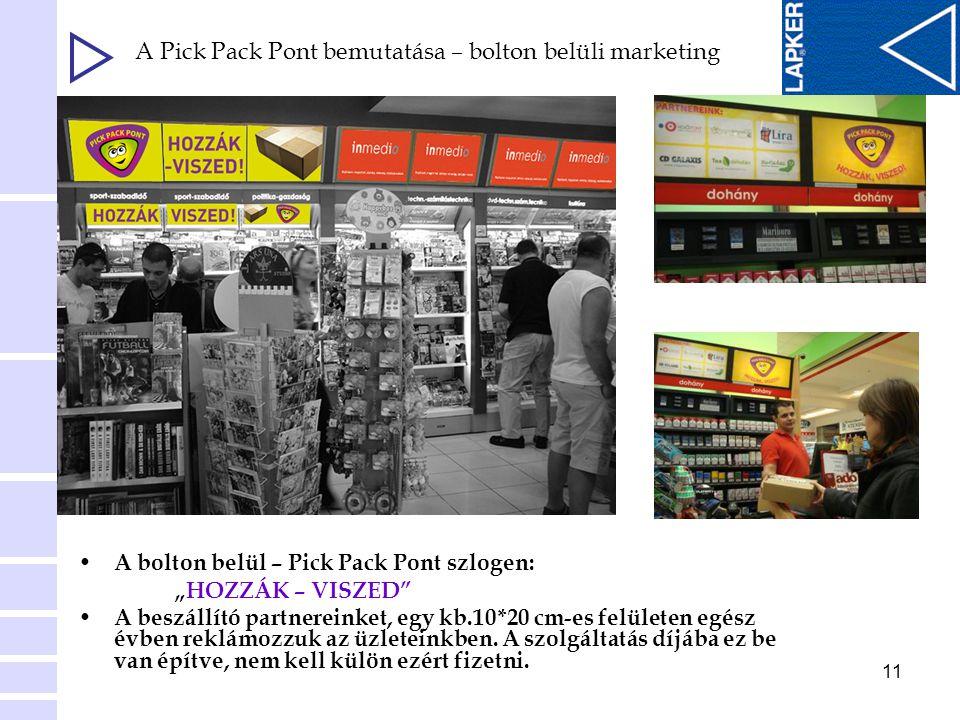 A Pick Pack Pont bemutatása – bolton belüli marketing