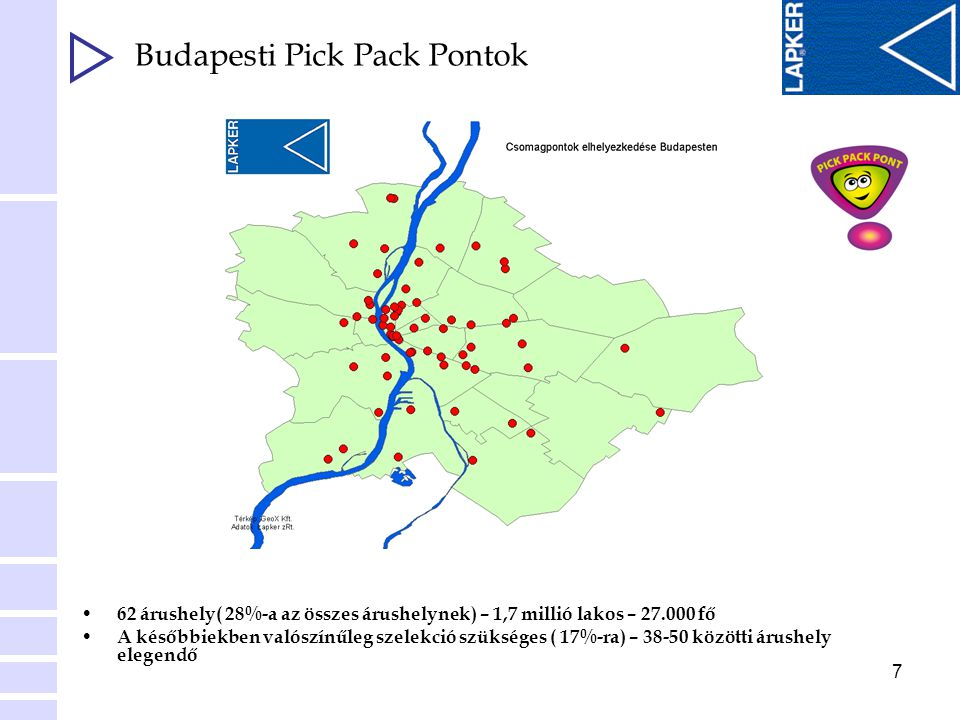 Budapesti Pick Pack Pontok