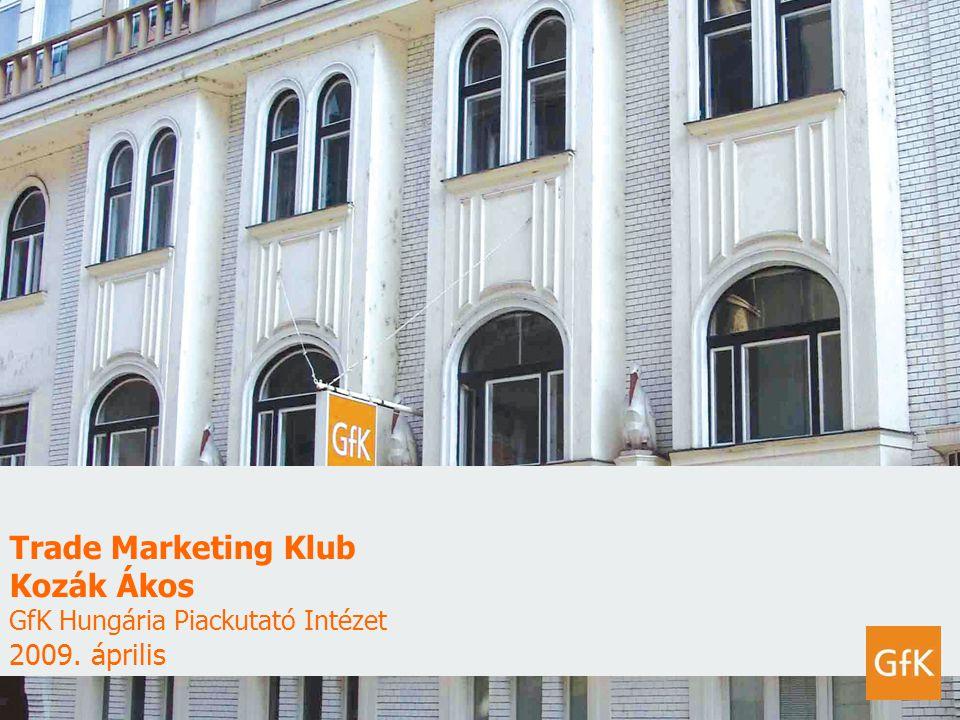 Trade Marketing Klub Kozák Ákos GfK Hungária Piackutató Intézet 2009