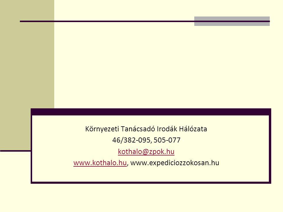 Környezeti Tanácsadó Irodák Hálózata 46/382-095, 505-077
