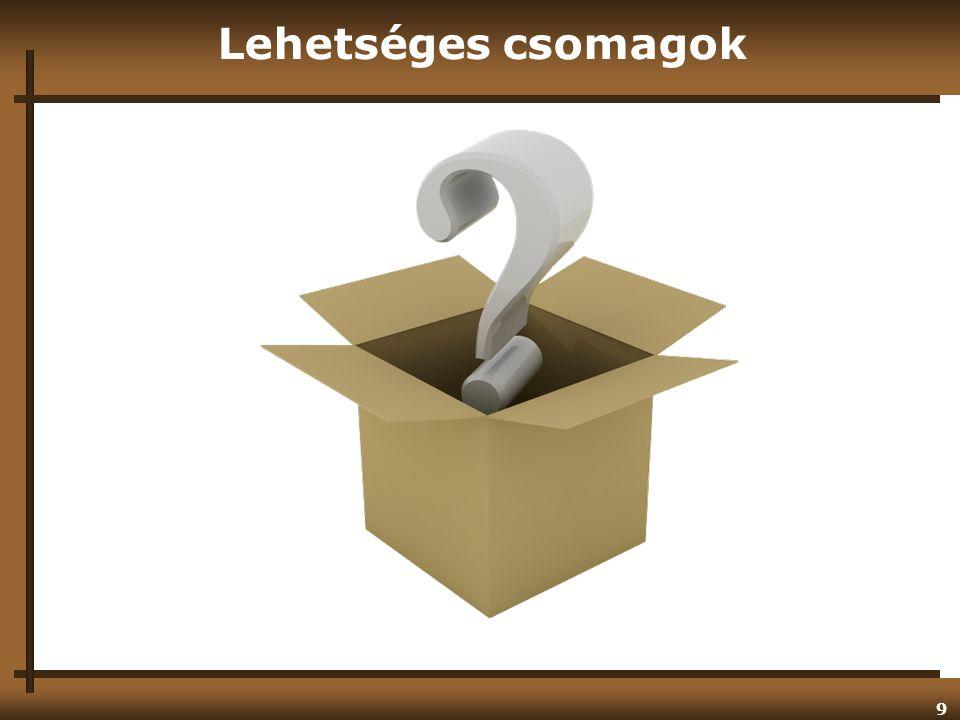 Lehetséges csomagok