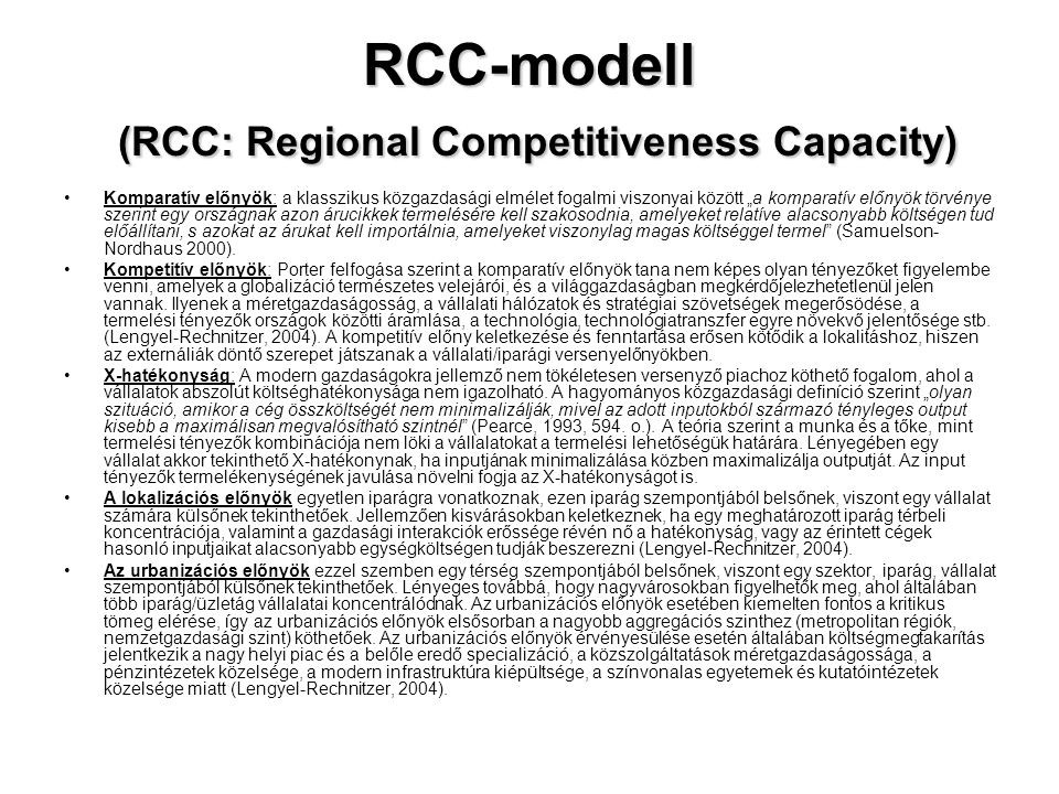 RCC-modell (RCC: Regional Competitiveness Capacity)