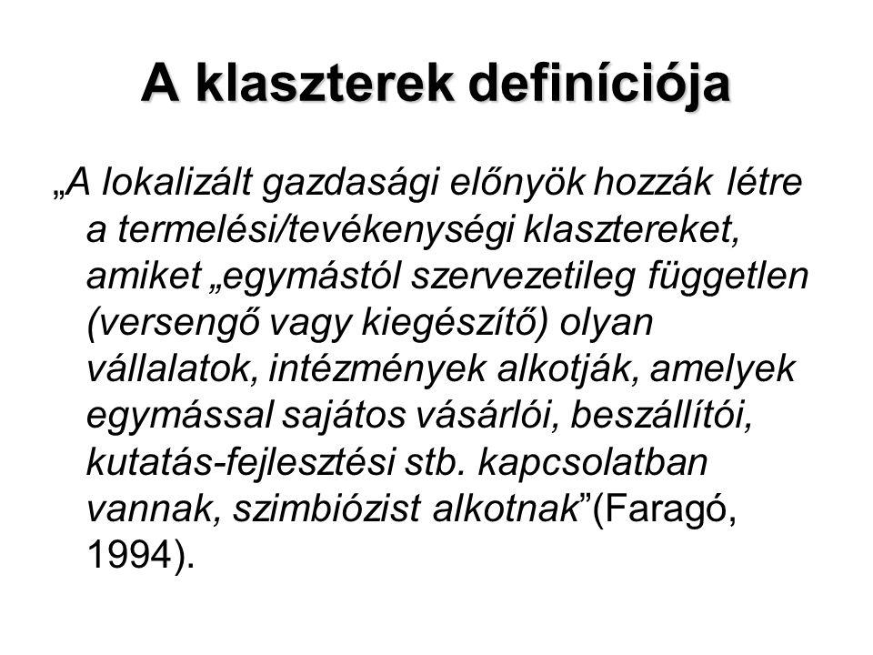 A klaszterek definíciója