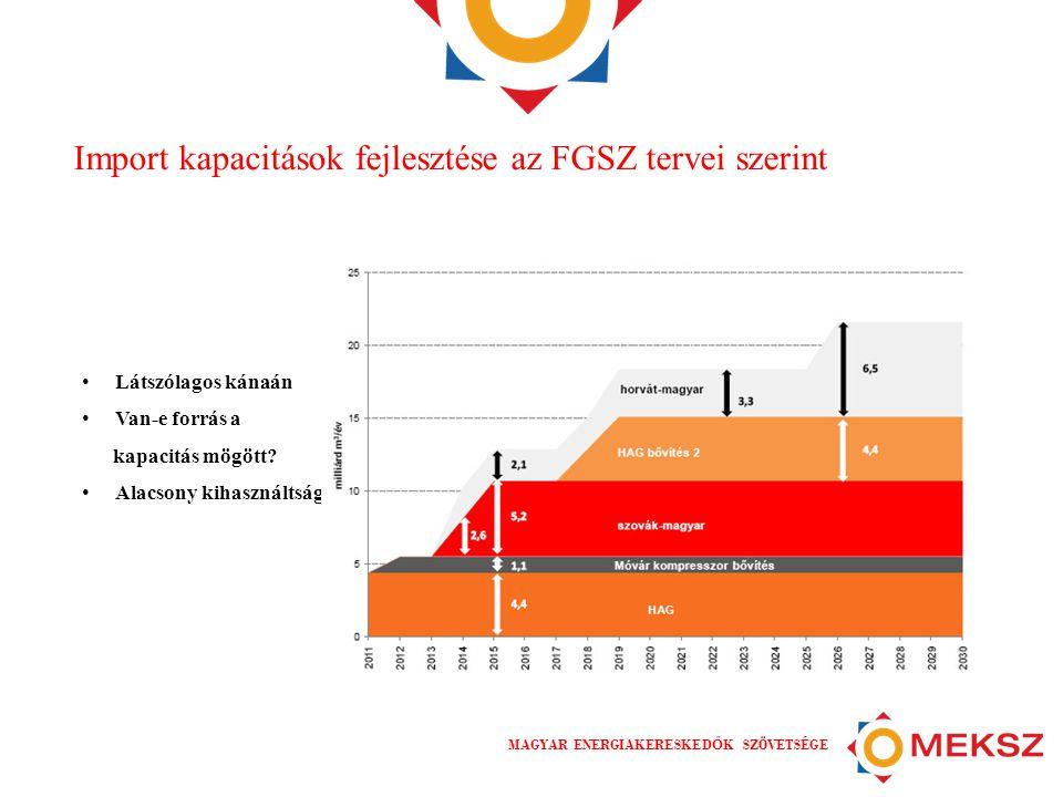 Import kapacitások fejlesztése az FGSZ tervei szerint