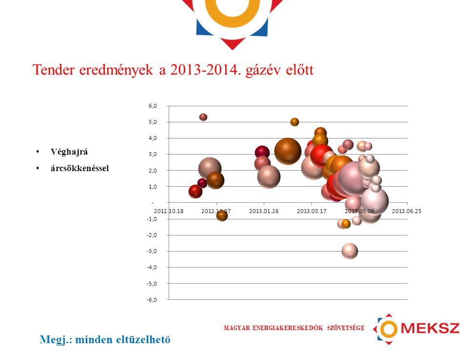 Tender eredmények a 2013-2014. gázév előtt